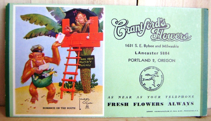 Image for Portland Crantford's Flower Shop Ad Circa 1940s